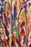Application étrange des pastels d'huile Photo stock