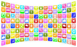 Application Apps App Icon Icons collection for mobile or smart p Stock Image