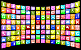 Application Apps App Icon Icons multimedia collection for mobile. Application Apps App Icon Icons multimedia program collection for mobile or smart phone vector illustration