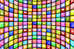 Application Apps App Icon Icons multimedia for mobile or smart p. Application Apps App Icon Icons multimedia collection for mobile or smart phone programs stock illustration