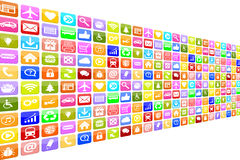Application Apps App Icon Icons set for mobile or smart phone Stock Image