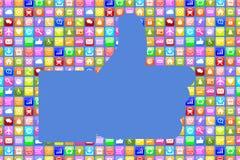 Application Apps App like social media network on mobile or smar Stock Images
