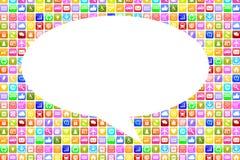 Application Apps App social media network on mobile or smart pho Stock Images