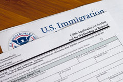 Application for asylum. And for withholding of removal to fill out stock photography