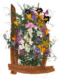 Application bouquet of dry  flowers Royalty Free Stock Photos