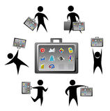 Application Briefcase Royalty Free Stock Images