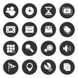 Application Circle Icons set Vector Royalty Free Stock Photo