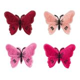 Application of cloth is four butterfly. Isolate. On white background stock photography