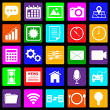 Application colorful icons on black background Stock Image