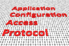 Application configuration access protocol. In the form of binary code, 3D illustration Stock Photography