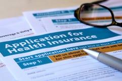 Application d'assurance médicale maladie photographie stock libre de droits