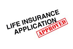 Application d'assurance-vie photo libre de droits
