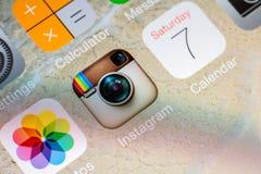 Application d'Instagram Photo stock