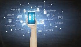 Application d'opérations bancaires en ligne Media mélangé Photos stock