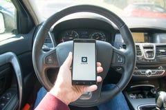 Application d'Uber photographie stock libre de droits