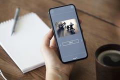 Application d'Unning à votre téléphone image stock