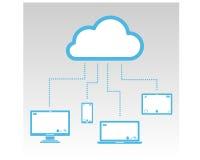 Application de connexion de nuage dans l'autre dispositif Photographie stock