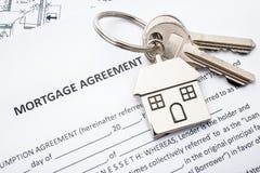 Application de convention de prêt d'hypothèque photo libre de droits