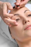 Application de demande de règlement de peau photographie stock