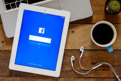 Application de Facebook Photographie stock
