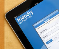 Application de Facebook sur l'iPad photo stock