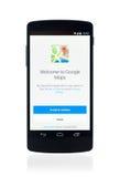 Application de Google Maps sur la connexion 5 de Google Photographie stock libre de droits
