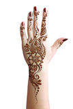 Application de henné Image stock