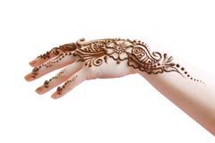 Application de henné Photographie stock libre de droits