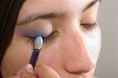 Application de l'Eyeliner Image libre de droits