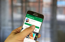 Application de mobile de Google Adsense Photos stock