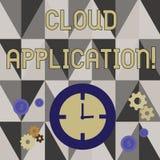 Application de nuage d'?criture des textes d'?criture Concept signifiant le logiciel où temps de travaux de calcul de nuage illustration de vecteur