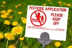 Application de pesticide photos stock