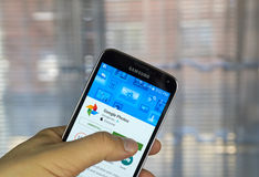 Application de photos de Google Photo stock