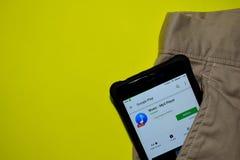 Application 2019 de réalisateur de lecteur MP3 de musique sur l'écran de Smartphone photos stock