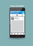 Application de service réseau sociale basée sur le WEB au téléphone intelligent Image libre de droits