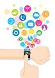 Application de Smartwatch Image libre de droits