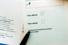 Application de visa approuvée Photo libre de droits
