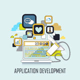 Application development concept Royalty Free Stock Images