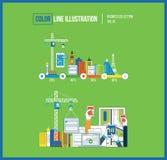 Application development concept for e-business, mobile applications, banners. Design application development concept for e-business, web sites, mobile Stock Photos