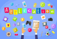 Application Development Concept Mobile Smart Phone Stock Images