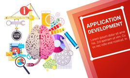 Application Development Create Design Site Programming Coding Royalty Free Stock Image