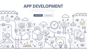 Free Application Development Doodle Concept Royalty Free Stock Images - 59019969