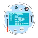 Application development vector concept Royalty Free Stock Images