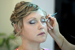 Application du maquillage Photos libres de droits