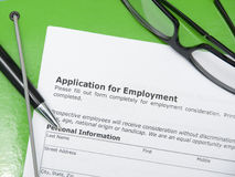 Application employment Royalty Free Stock Photography
