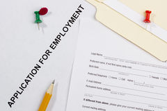 Application for Employment Stock Photos