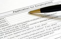 Application for employment Stock Photos