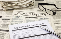 Application for employment stock image