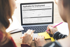Application For Employment Form Job Concept Stock Image