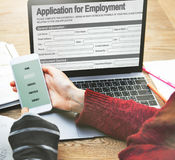 Application For Employment Form Job Concept Stock Photography